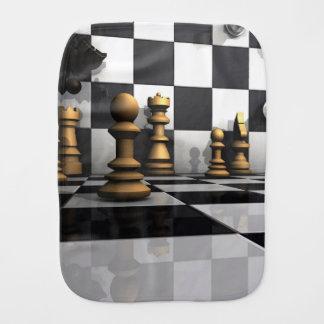 King Chess Play Burp Cloth