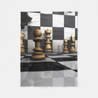 King Chess Play Fleece Blanket