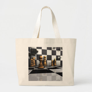King Chess Play Large Tote Bag
