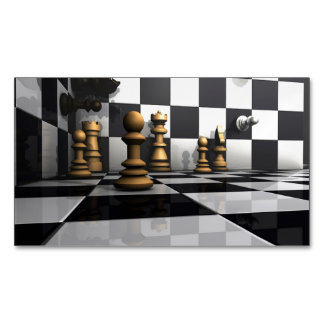 King Chess Play Magnetic Business Card
