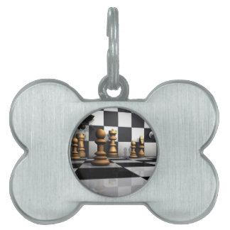 King Chess Play Pet ID Tag