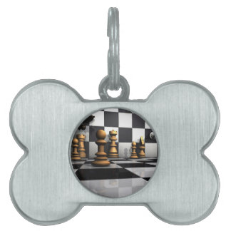 King Chess Play Pet Tag