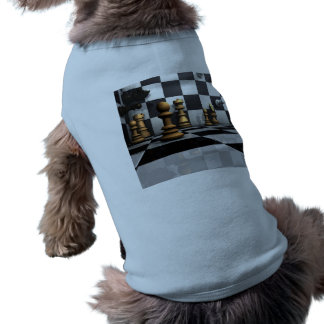 King Chess Play Sleeveless Dog Shirt