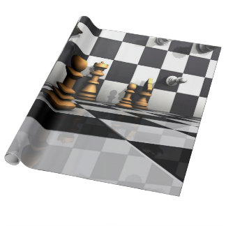 King Chess Play Wrapping Paper