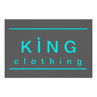 king clothing poster