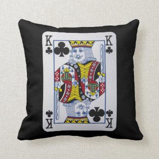King Clovers (Clubs) Playing Card Cushion