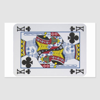 King Clovers (Clubs) Playing Card Stickers
