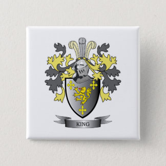 King Coat of Arms 15 Cm Square Badge