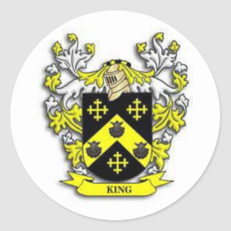 King coat of arms classic round sticker