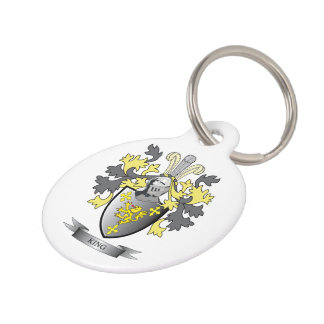 King Coat of Arms Pet Name Tag