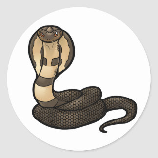 King Cobra Classic Round Sticker