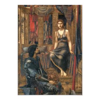 "King Cophetua and the Beggar Maid 5"" X 7"" Invitation Card"