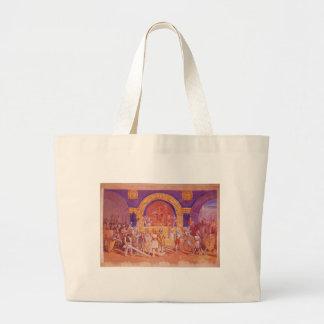 King Cotton by Thomas Nast Jumbo Tote Bag