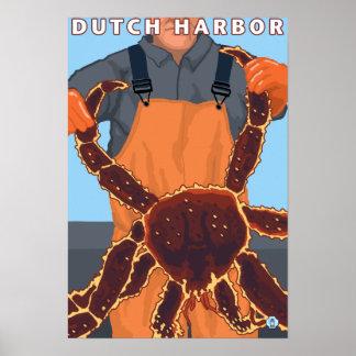 King Crab Fisherman - Dutch Harbor, Alaska Poster