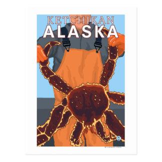 King Crab Fisherman - Ketchikan, Alaska Postcard