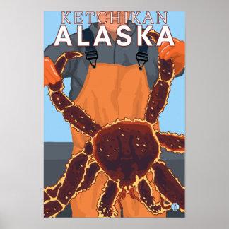 King Crab Fisherman - Ketchikan, Alaska Poster