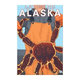 King Crab Fisherman - Latouche, Alaska Canvas Prints