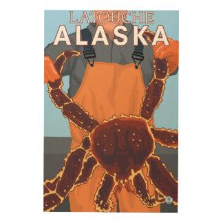King Crab Fisherman - Latouche, Alaska Wood Canvas