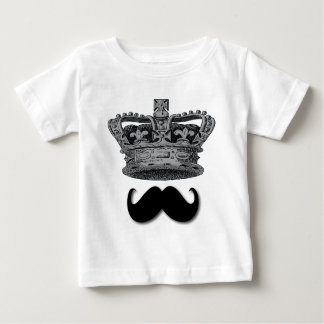 King Crown and Mustache Baby T-Shirt