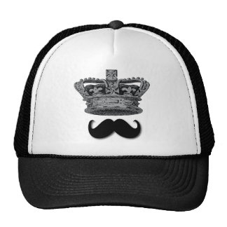 King Crown and Mustache Hat