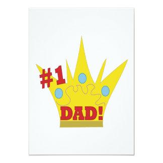 King Dad 13 Cm X 18 Cm Invitation Card