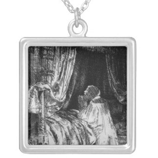 King David at prayer, 1652 Silver Plated Necklace