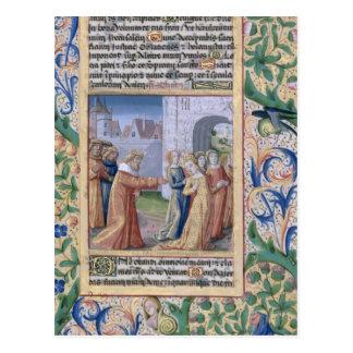 King David coveting Bathsheba Postcard