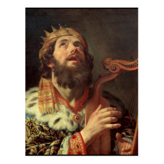 King David Playing the Harp Postcard