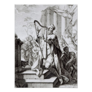King David Playing the Lyre Poster