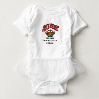 king deliverer all jc baby bodysuit