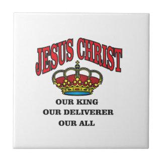 king deliverer all jc small square tile
