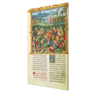 King Edward III Waging War at the Battle of Canvas Print