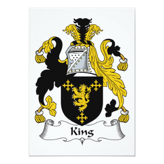 King Family Crest 13 Cm X 18 Cm Invitation Card