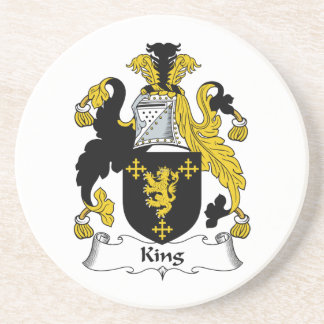King Family Crest Coaster