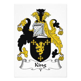 King Family Crest Custom Invite