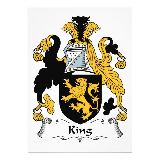 King Family Crest Invitations