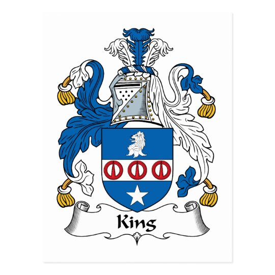 King Family Crest Postcard