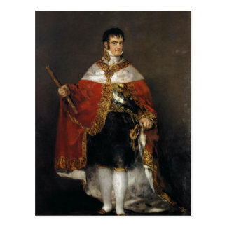 King Ferdinand VII of Spain in his robes of state, Postcard