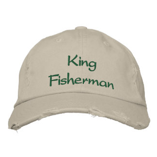 King Fisherman Embroidered Cap