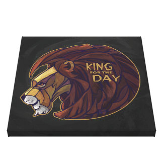 King for the Day Stretched Canvas Prints