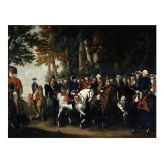 King Frederick II's return from Preussen von Postcard