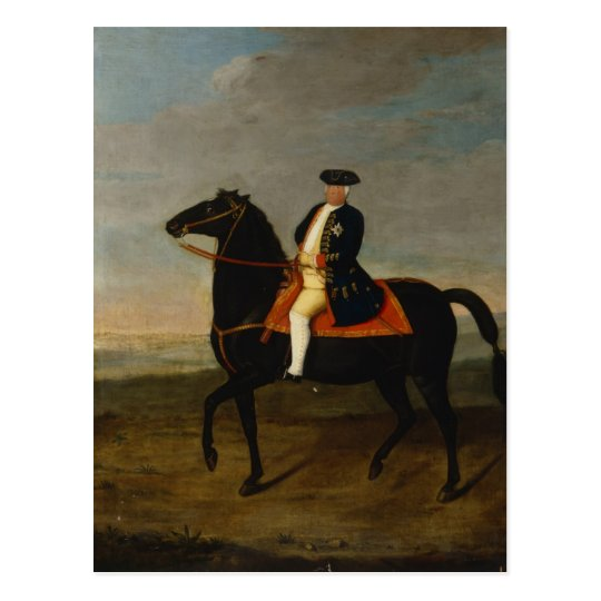 King Frederick William I on Horseback Postcard