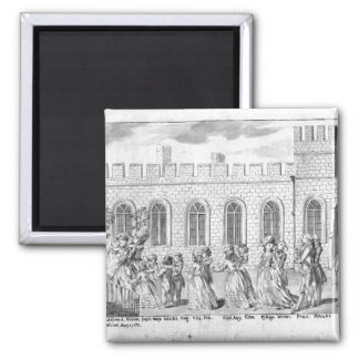 King George III and Queen Charlotte Square Magnet