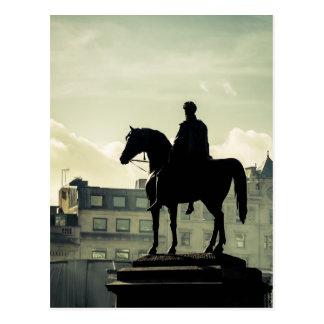 King George IV at Trafalgar Square Postcard