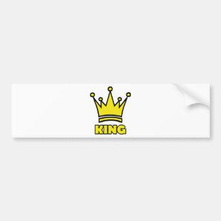 king golden crown icon bumper sticker