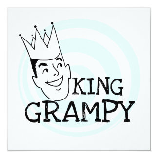 King Grampy Tshirts and Gifts Personalized Announcement