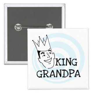 King Grandpa T-shirts and Gifts Button