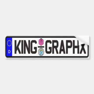 King Graphx Euro Plate Bumper Sticker Car Bumper Sticker