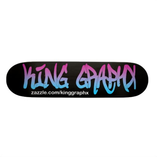 King Graphx Logo Skateboard Pro