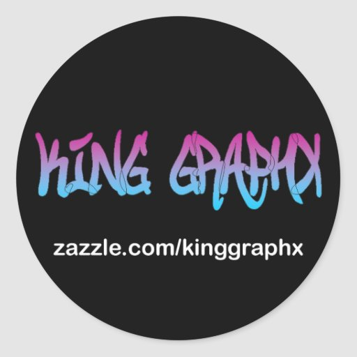 King Graphx Round Stickers